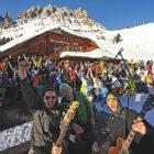 Rock sulla neve in Val Gardena